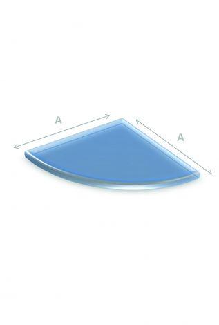 Vloerplaat Glas Kwartrond 90 x 90 cm 6 mm dik