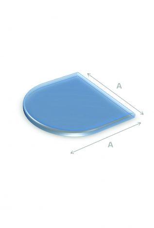 Vloerplaat Glas Halfrond 90 x 90 cm 6 mm dik