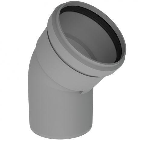 BH PP R.G. Grijs Ø 130 mm bocht 45°