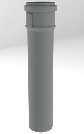 BH PP R.G. Grijs Ø 80 mm pijp L=500 mm