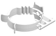 Rolux PP R.G. Wit Ø 80 mm beugel