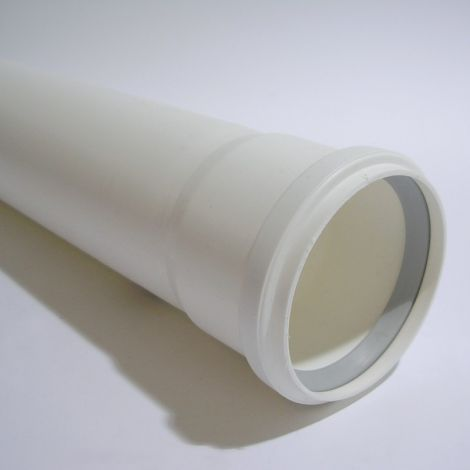 Rolux PP R.G. Wit Ø 80 mm pijp L=500 mm