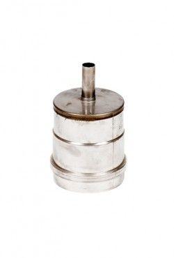RVS blank Ø 100 mm dop met condensafvoer