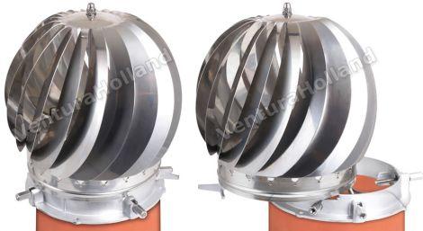 Turbine Spinner RVS 80/250 blank met veegopening