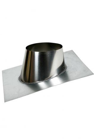 Concentrisch CFS RVS 130/200 mm Dakplaat hellend 5-30°