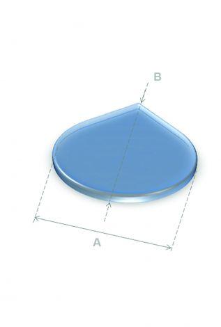 Vloerplaat Glas Druppel 80 x 95,5 cm 6 mm dik
