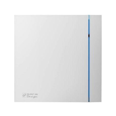 S&P Toilet / Badkamerventilator Silent 100 CHZ Design Hygro + Timer