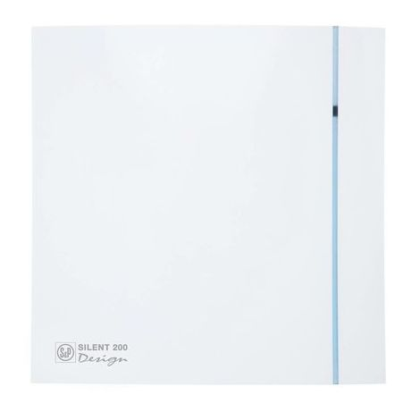 S&P Toilet / Badkamerventilator Silent 200 CZ Design Standaard