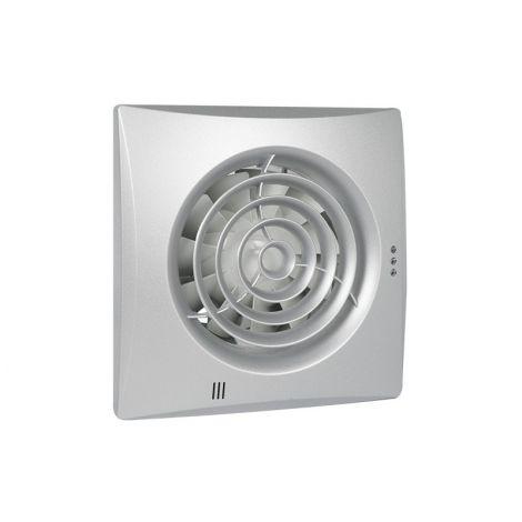 Badkamer/Toiletventilator Silencio 125 Timer en vochtsensor Front Aluminium