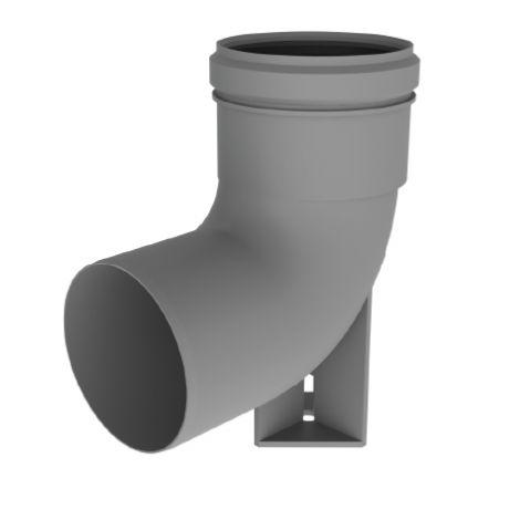 BH PP Flex Ø 80 mm RG bocht 90° met steun