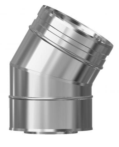 Concentrisch CFS RVS/RVS Ø 130/200 mm bocht 30°