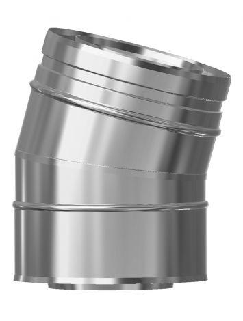 Concentrisch CFS RVS/RVS Ø 80/130 mm bocht 15°