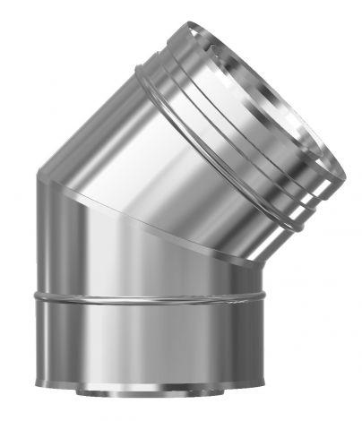 Concentrisch CFS RVS/RVS Ø 130/200 mm bocht 45°