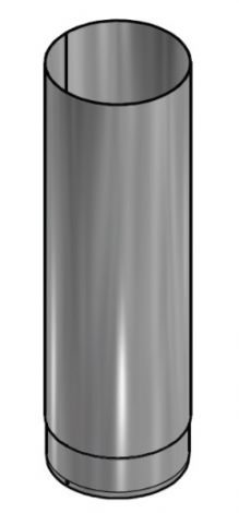 Kachelpijp Blank RVS Ø 180 mm Pijp L = 500 mm