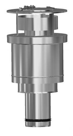 Concentrisch CFS RVS/RVS Ø 130/200 mm dakdoorvoer