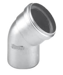 Dikw. Aluminium Ø 100 mm bocht 45°