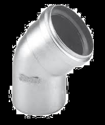 Dikw. Aluminium Ø 80 mm bocht 45°