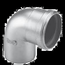 Dikw. Aluminium Ø 100 mm bocht 90°