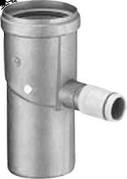 Dikw. Aluminium Ø 100 mm condensafvoer H/V