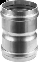 Dikw. Aluminium Ø 80 mm koppelstuk