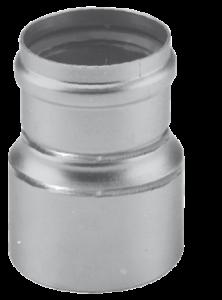 Dikw. Aluminium verloopstuk verkleinend Ø 90 - 80 mm
