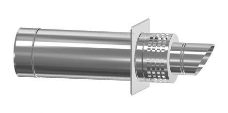 Concentrisch. CFS RVS/RVS Ø 100/150 mm geveldoorvoer