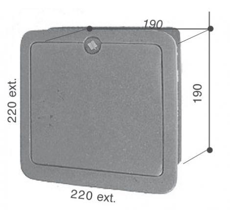 Gietijzer Inspectieluik met kader 220 x 220 mm