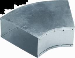 Instort 170 / 70 mm bocht 45° Horizontaal Gegalvaniseerd