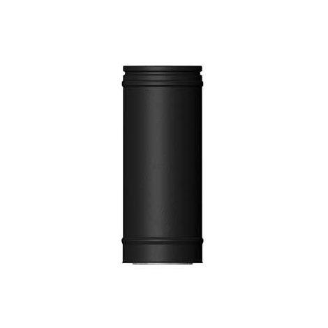ICS 25 RVS Ø 80/130 mm pijp L = 250 mm Zwart