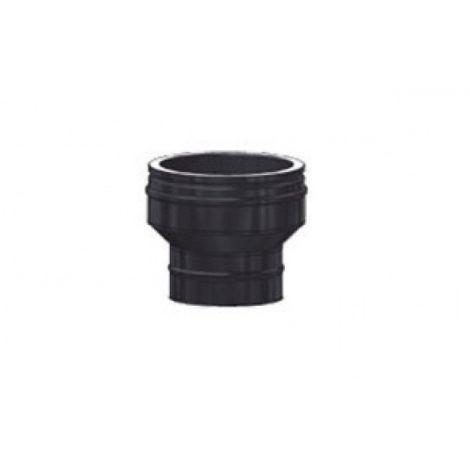 ICS 25 RVS Ø 100/150 mm onderverloop zwart