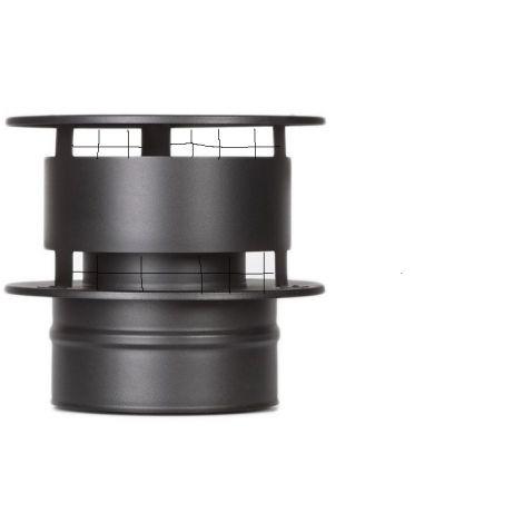 ICS 25 RVS Ø 100/150 mm trekkap gaas Zwart