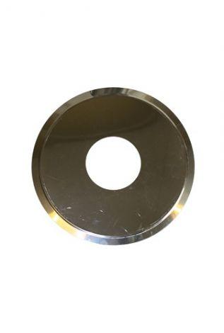 RVS blank Ø 110 mm rozet