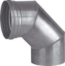Dikw. Aluminium Ø 130 mm las segmentbocht 90°