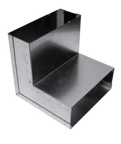 Instort 220/80 mm bocht 90° Verticaal Gegalvaniseerd