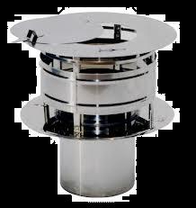 RVS Ø 130 mm trekkende kap met veegluik