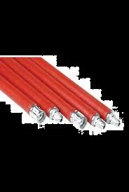 Flexibele veegstok met Schoefdraad Premium L = 1000 mm Rood