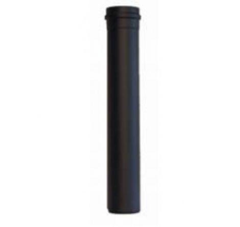 Zwart RVS Ø 80 mm pijp  L = 500 mm met lipring